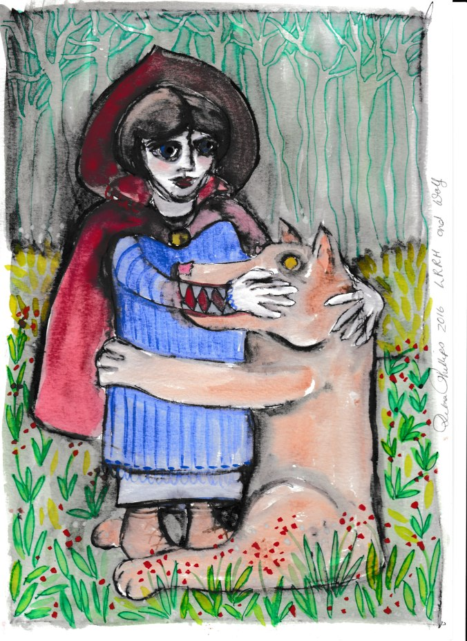 Deb's Art 20 - LRRH and wolf