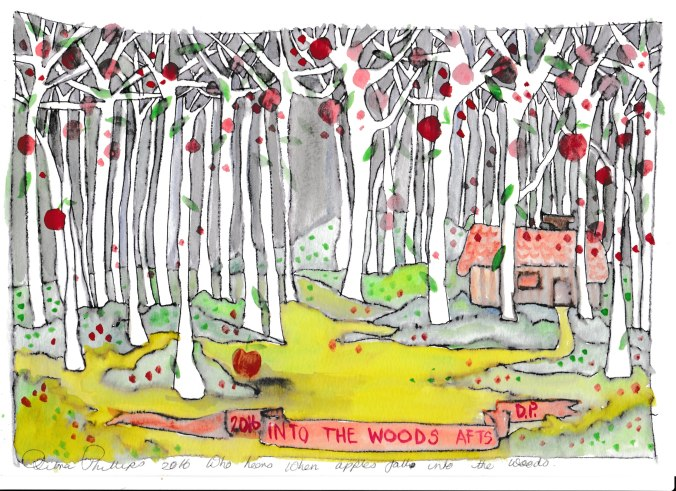 Deb's Art 5 - Who hears when apples fall into the woods